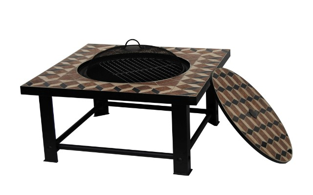 palermo feuerschale mit mosaik grill und tisch. Black Bedroom Furniture Sets. Home Design Ideas