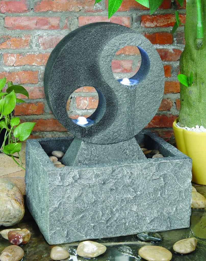 yin und yang tischbrunnen mit beleuchtung. Black Bedroom Furniture Sets. Home Design Ideas
