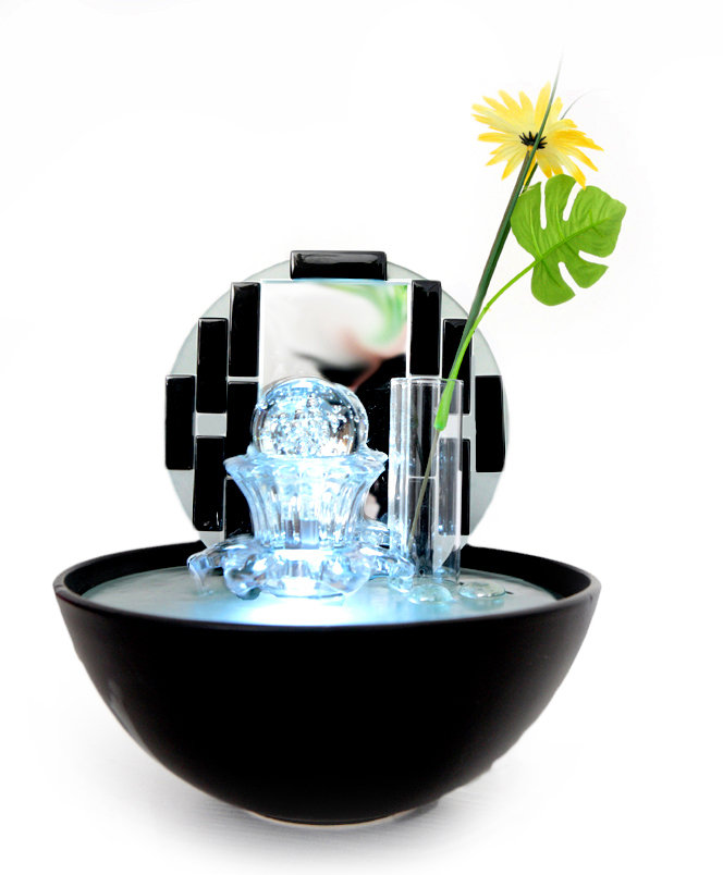 Artisan Promoter Tischbrunnen mit LED-Beleuchtung