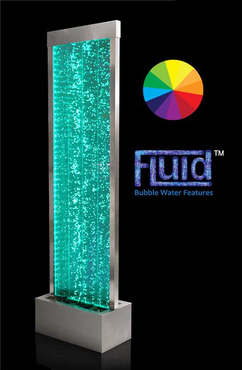 184cm Sprudelnde Wasserwand mit LED-Beleuchtung
