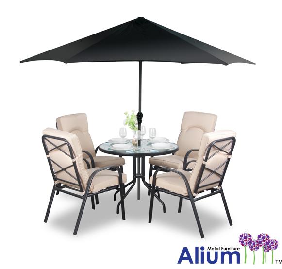 alium hadleigh gartentisch mit 4 st hlen 624 99. Black Bedroom Furniture Sets. Home Design Ideas