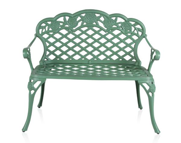 Alium™ Gartenbank Franklin aus Aluminiumguss, grün 159,99€