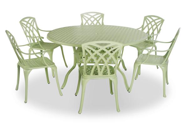 fence house design runder tisch mit st hlen. Black Bedroom Furniture Sets. Home Design Ideas