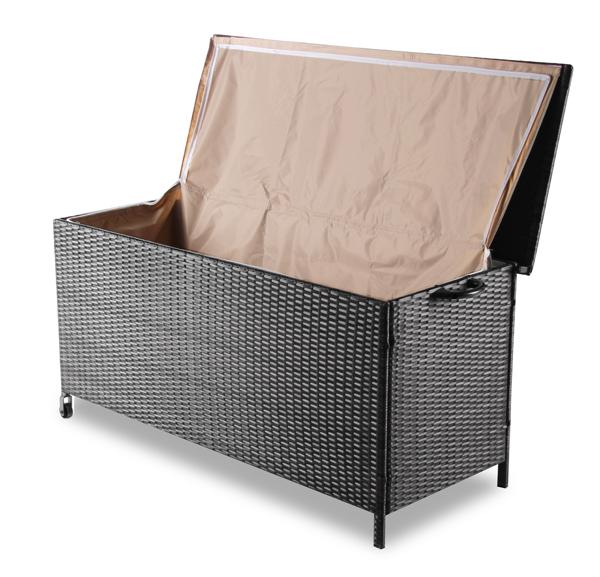 asha leighton garten aufbewahrungsbox aus rattan. Black Bedroom Furniture Sets. Home Design Ideas