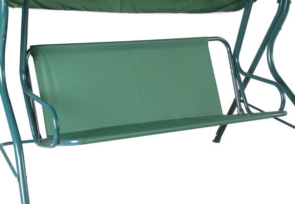 alium 3 sitzer hollywoodschaukel mit dach in gr n 99 99. Black Bedroom Furniture Sets. Home Design Ideas
