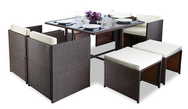 Toom Gartenmobel Lounge : Die cremefarbenen Sitzkissen ermöglichen einen besonders hohen