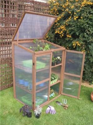39 botanico 39 gew chshaus aus holz mit polykarbonat glas 119 99. Black Bedroom Furniture Sets. Home Design Ideas