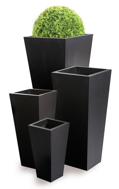 hoher bertopf schwarz gro h90cm 69 99. Black Bedroom Furniture Sets. Home Design Ideas