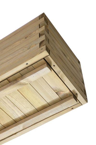 blumenkasten aus kiefernholz h40 x b182 x t42 cm 144 99. Black Bedroom Furniture Sets. Home Design Ideas