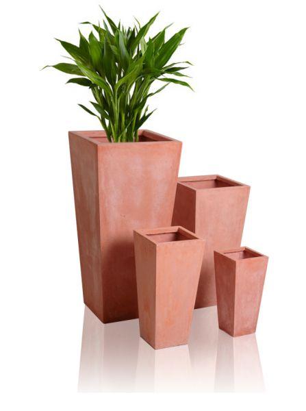 fiberglas pflanztopf in terracotta optik gro h39cm x w19cm 26 99. Black Bedroom Furniture Sets. Home Design Ideas