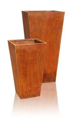 blumenkasten aus cortenstahl pflanzk bel pflanztopf blumentopf pflanztrog ebay. Black Bedroom Furniture Sets. Home Design Ideas