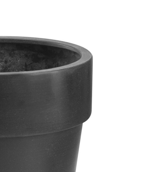 montroe runde bert pfe aus polystone in schwarz 2er set h he 48cm 94 99. Black Bedroom Furniture Sets. Home Design Ideas