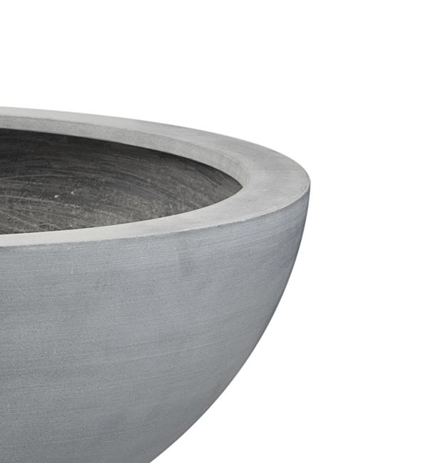 lismore flache runde bert pfe aus polystone in grau 2er set durchmesser 90cm. Black Bedroom Furniture Sets. Home Design Ideas