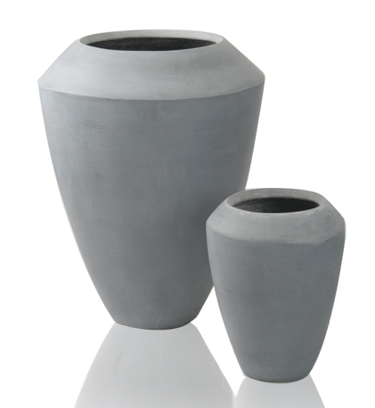 roselle hohe bert pfe aus polystone in grau 2er set h he 64cm 40cm 159 99. Black Bedroom Furniture Sets. Home Design Ideas