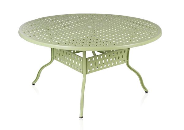 alium lincoln runder gartentisch in salbeigr n mit 4 st hlen 679 99. Black Bedroom Furniture Sets. Home Design Ideas