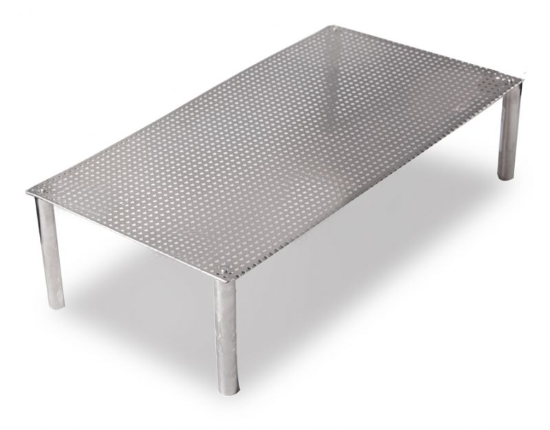 gitter aus edelstahl rechteckig 64 99. Black Bedroom Furniture Sets. Home Design Ideas
