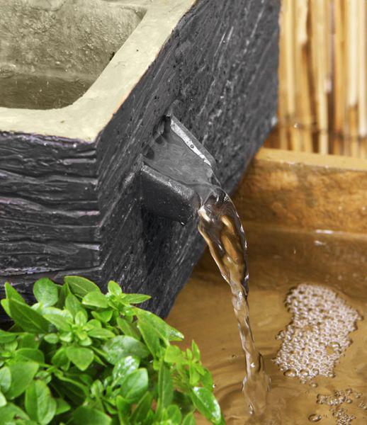 bepflanzbarer solarbrunnen burntwood 109 99. Black Bedroom Furniture Sets. Home Design Ideas