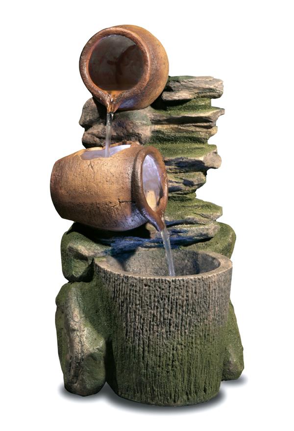 gartenbrunnen cottage honey pots mit led beleuchtung 129 99. Black Bedroom Furniture Sets. Home Design Ideas