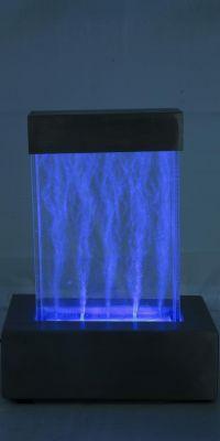 sprudelnder tischbrunnen nebula mit bunter led. Black Bedroom Furniture Sets. Home Design Ideas
