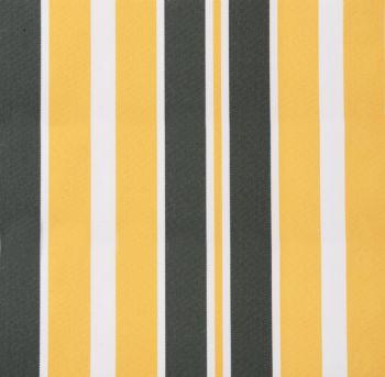 ersatzstoff inkl volant f r 4m x 3m markisen gelb und grau gestreift 124 99. Black Bedroom Furniture Sets. Home Design Ideas