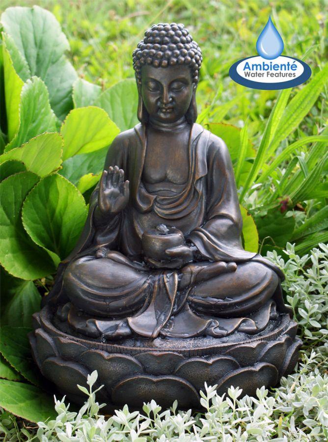 buddha brunnen braun 46 99. Black Bedroom Furniture Sets. Home Design Ideas