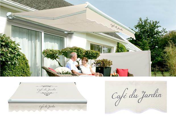 2 5m elektrische vollkassettenmarkise cafe du jardin. Black Bedroom Furniture Sets. Home Design Ideas