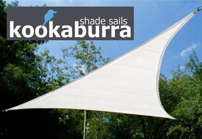 kookaburra 4 2m x 4 2m x 6 0m rechtwinkliges dreieck polarwei atmungsaktives party sonnensegel. Black Bedroom Furniture Sets. Home Design Ideas