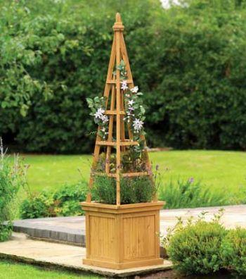 bertopf 39 obelisk 39 aus holz h 163 x b 40 cm 92 99. Black Bedroom Furniture Sets. Home Design Ideas