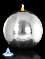 Tacana 30cm Stainless Steel Sphere, Fire and Water Feature