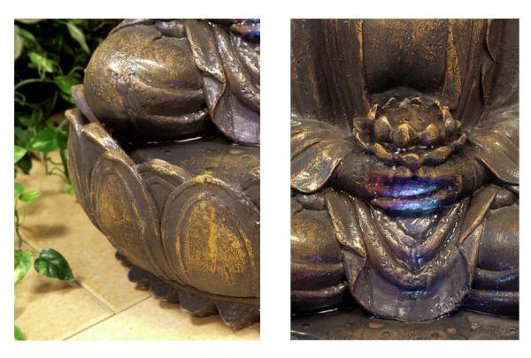 beleuchteter buddha brunnen mit bl te 124 99. Black Bedroom Furniture Sets. Home Design Ideas