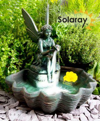 beleuchteter solarbrunnen elfe auf einer muschel 84 99. Black Bedroom Furniture Sets. Home Design Ideas