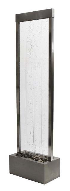 sprudelnde wasserwand mit bunter led beleuchtung 184cm f r innen und au enbereich 549 99. Black Bedroom Furniture Sets. Home Design Ideas