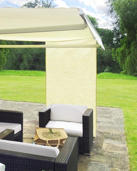 rechteckiges senkrecht sonnensegel f r markisen 160cm x 125cm elfenbein 49 99. Black Bedroom Furniture Sets. Home Design Ideas