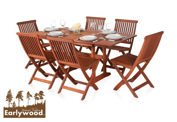 Earlywood Ausziehbarer Gartentisch Mit 6 Ilford Stuhlen Aus