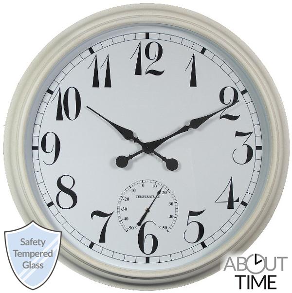 XXL Gartenuhr, Weiß, 90cm About Time™