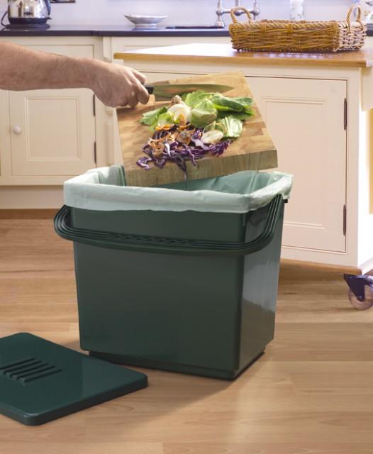 kompostbeh lter f r die k che gr n 17 99. Black Bedroom Furniture Sets. Home Design Ideas