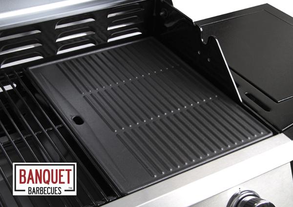 Grillplatte Für Gasgrill : Banquet™ gusseiserne grillplatte für gasgrill mit oder