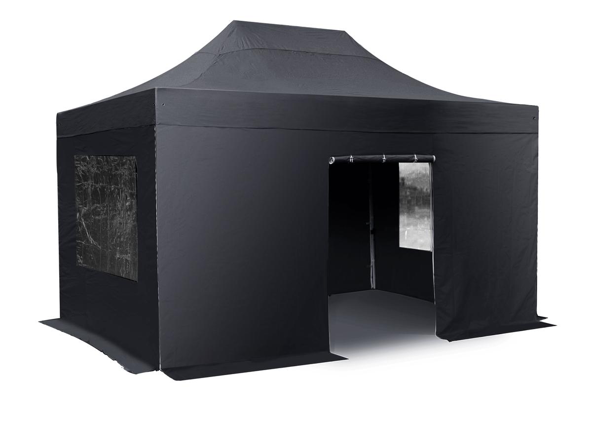 Seitenw Nde Mit T R Und Fenster F R 3m X 6m Falt Pavillon