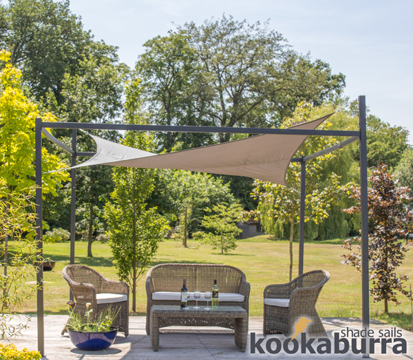 kookaburra 3m x 2m wasserfestes sonnensegel anthrazit inkl rahmen und befestigungsset 204 99. Black Bedroom Furniture Sets. Home Design Ideas
