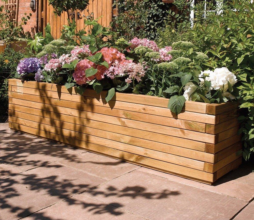 Blumenkasten aus fichten und kiefernholz f r die terrasse 189 99 for Loungemobel fur die terrasse