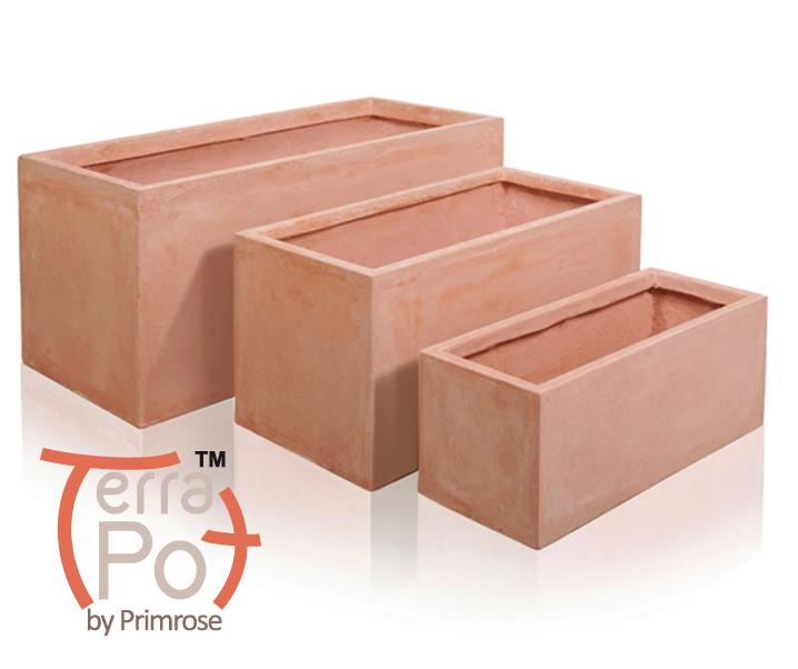 blumenkasten in terrakotta optik 3er set 434 99. Black Bedroom Furniture Sets. Home Design Ideas