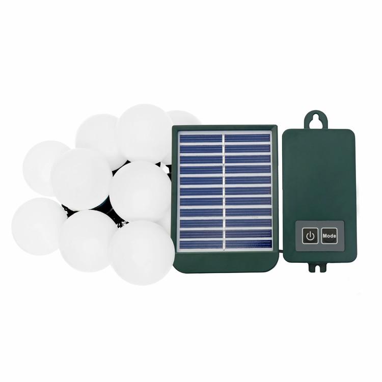 solar lichterkette mit 20 wei en birnen 49 99. Black Bedroom Furniture Sets. Home Design Ideas