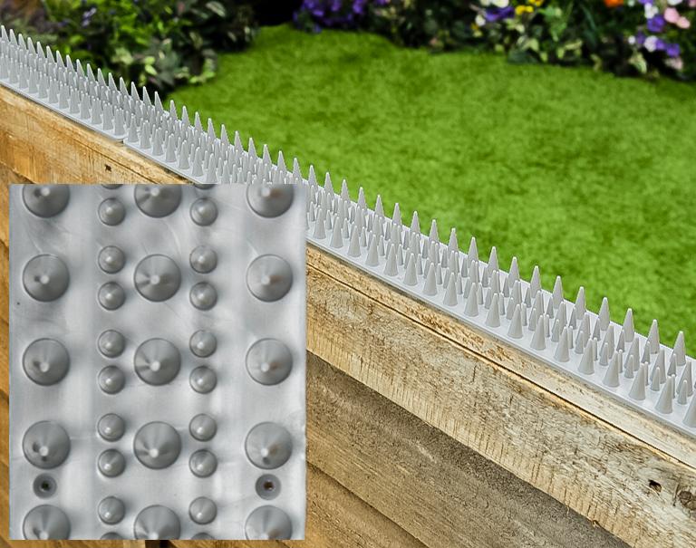 katzen abwehrstreifen mit spikes metallfarben 1 19. Black Bedroom Furniture Sets. Home Design Ideas