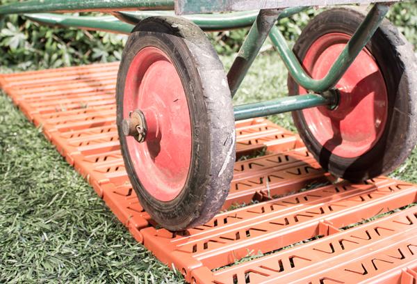 Rollbarer Gartenweg Terrakotta 300cm X 385cm 2999