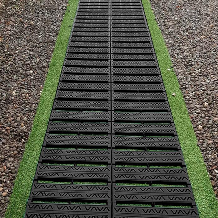 Rollbarer Gartenweg Schwarz 300cm X 77cm 4999