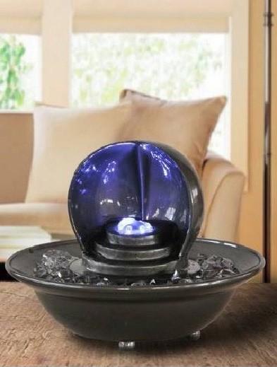 tischbrunnen mit beleuchtung anthrazit 84 99. Black Bedroom Furniture Sets. Home Design Ideas