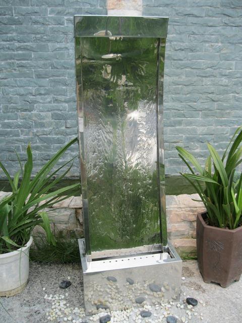 122cm gebogene edelstahl wasserwand cairo mit led beleuchtung 399 99. Black Bedroom Furniture Sets. Home Design Ideas
