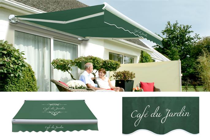 4m manuelle vollkassettenmarkise cafe du jardin gr n 989 99. Black Bedroom Furniture Sets. Home Design Ideas