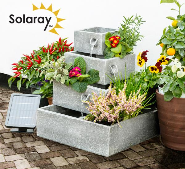 bepflanzbarer solarbrunnen perth 89 99. Black Bedroom Furniture Sets. Home Design Ideas