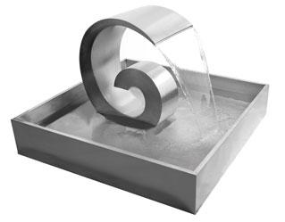 60cm edelstahlbrunnen wirbelwelle 409 99. Black Bedroom Furniture Sets. Home Design Ideas